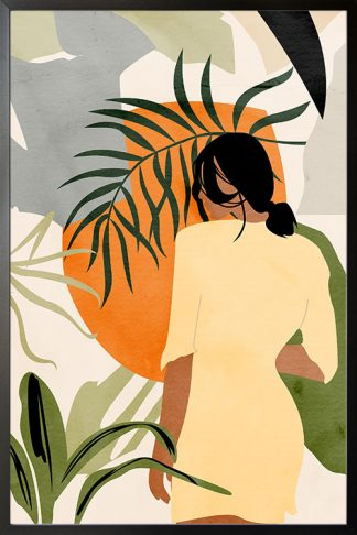 Botanical lady and a sun poster