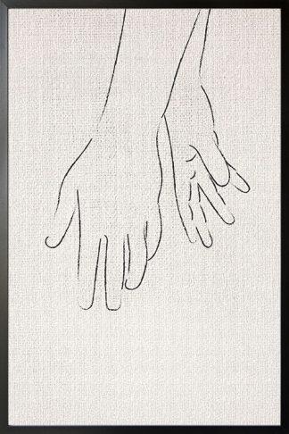 Partner Hands illustration poster