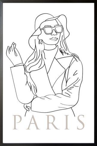 Fashion Paris illustration poster