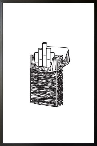 A Cigarette illustration poster