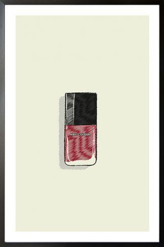 Nail Polish illustration poster