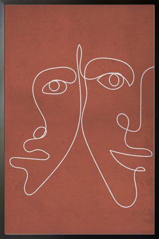 Genderless Line Art Print illustration poster