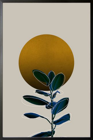 Blue plant under the sun poster