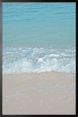 Wave on sand photography poster