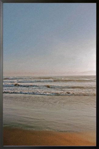 Beach at dawn photography poster