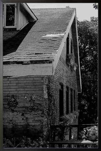 Black and white house photography poster