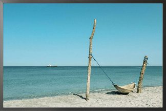 Hammock at beach photography poster