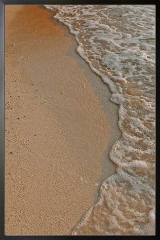 Sand and water photography poster
