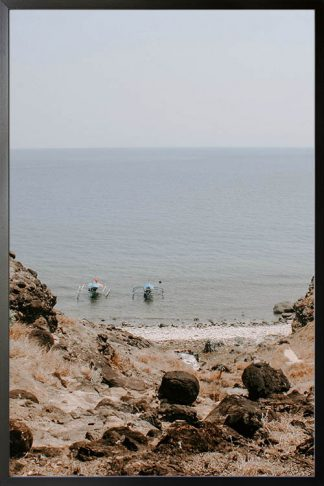 Rock and beaches photography poster