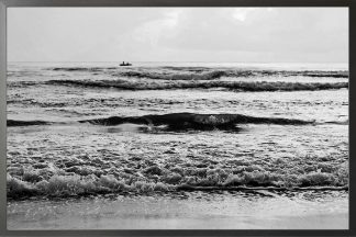 Black and white beach photography poster