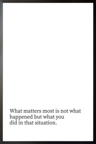 What matters most typography poster