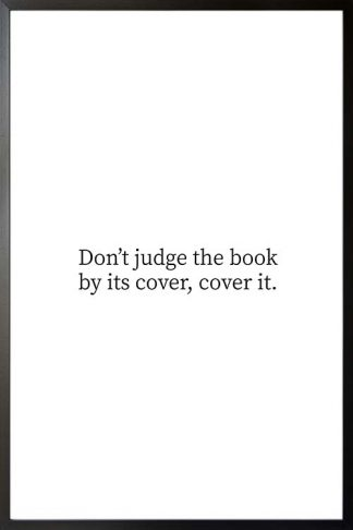 Dont judge the book typography poster