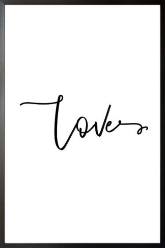 Love typography poster