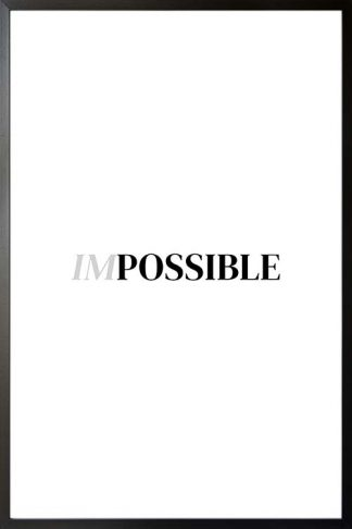 Impossible typography poster