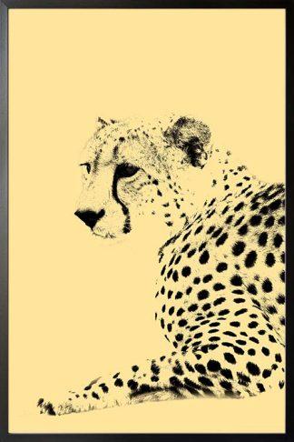 Leopard animal poster