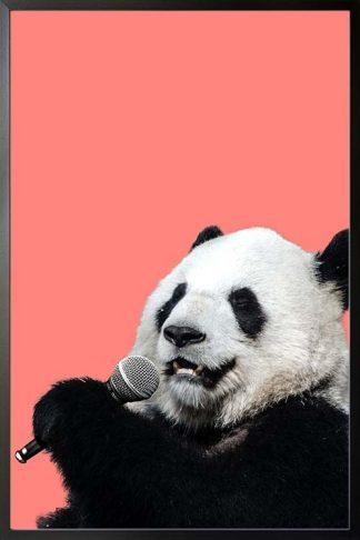 Karaoke panda poster