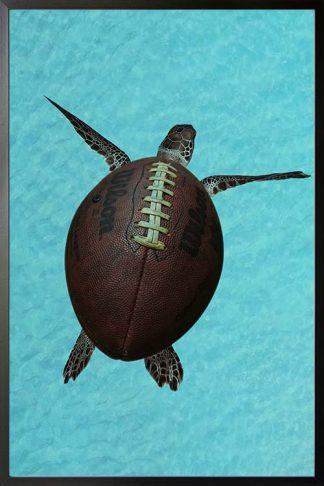 Turtle ball animal poster