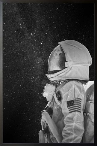 Astro black and white poster