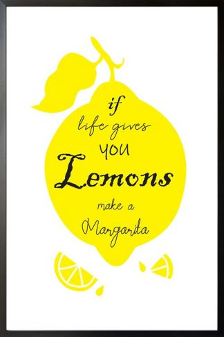 Make a margarita typography poster