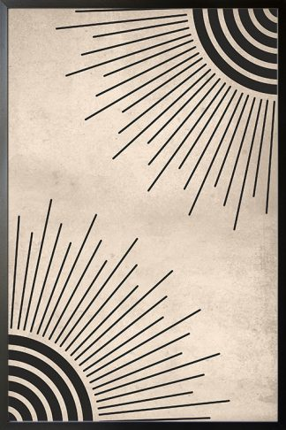 Lines Sun Abstract Corner Poster