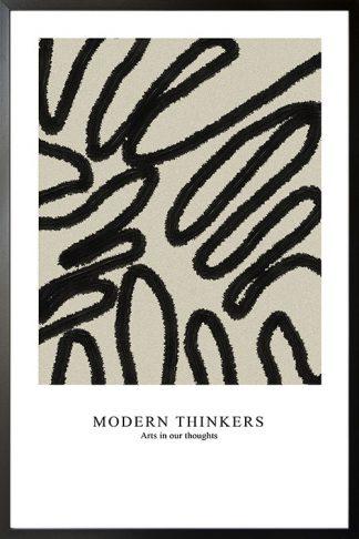 Modern Thinker art Poster