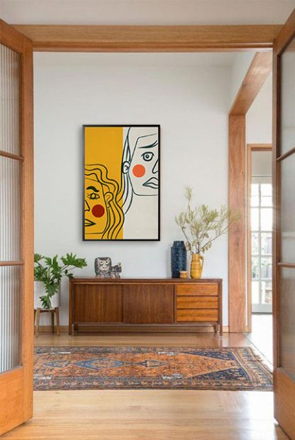 Abstract alter face Poster