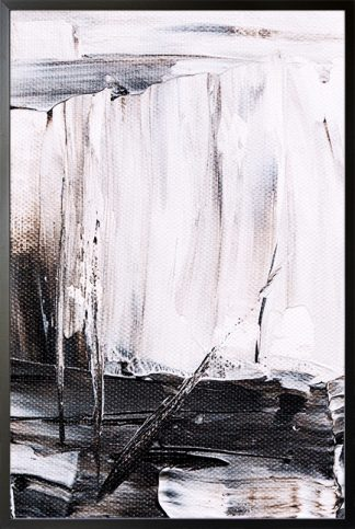 Abstract Painting black and white Poster