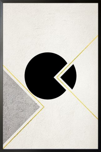 Graphical Gold and Silver no. 1 Poster