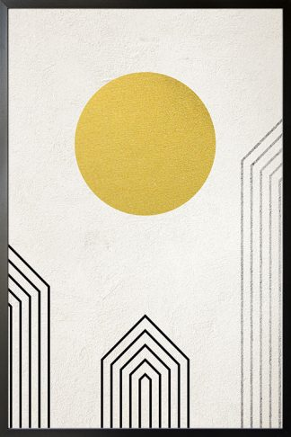 Graphical Gold and Silver no. 2 Poster