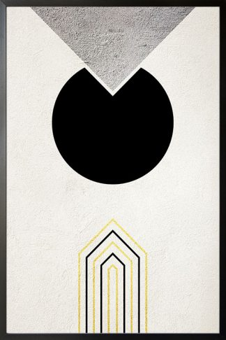 Graphical Gold and Silver no. 3 Poster