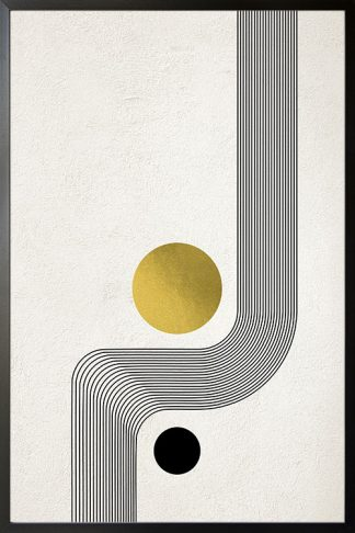 Graphical Gold and Silver no. 4 Poster