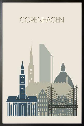 Copenhagen skyline Poster-01 Poster