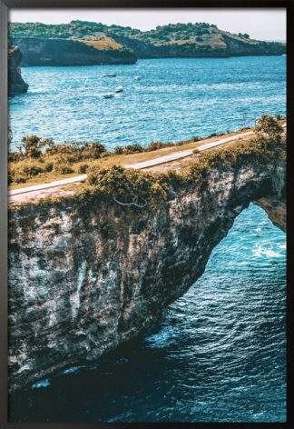 Rock formation photography poster with frame
