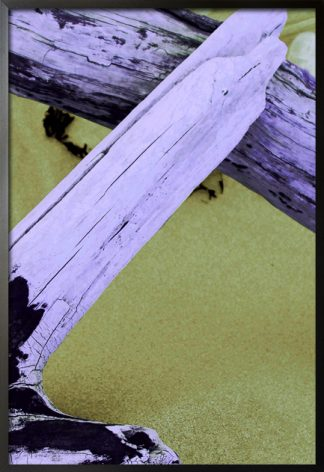 Wood on sand poster with frame