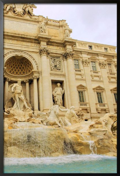 Trevi Fountain poster with frame