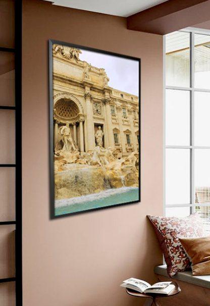 Trevi Fountain poster in interior