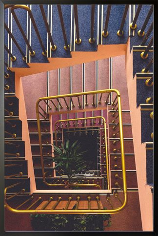 Stairs from top view Poster