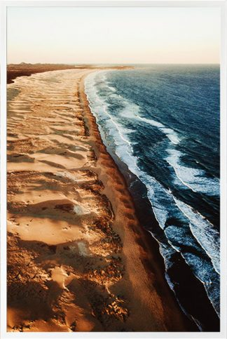Beautiful beach from top view Poster