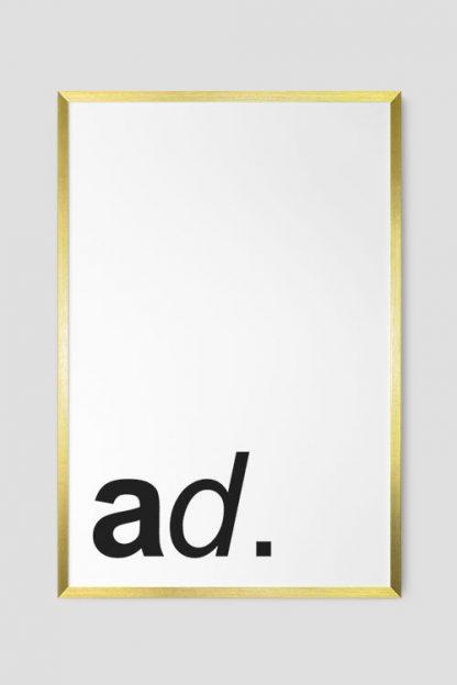 Gold poster frame