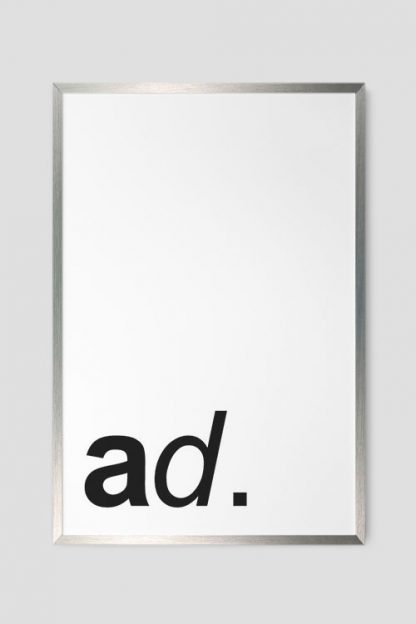 Silver poster frame