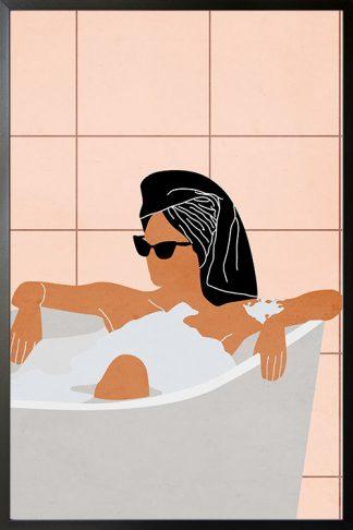 Women in bath tub Poster