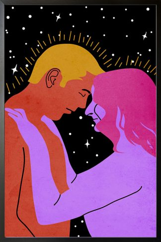 Couple in galaxy Poster