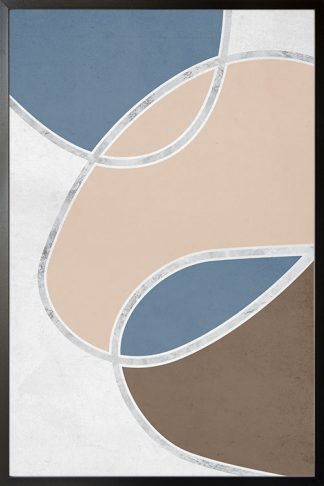 Shapes with silver line no. 1 Poster