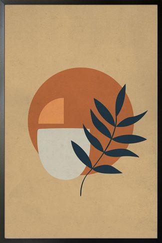 Shapes and minimal leaf Poster