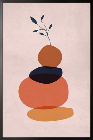 Stone balancing art Poster