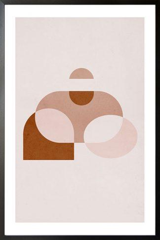 Geometric art shape poster