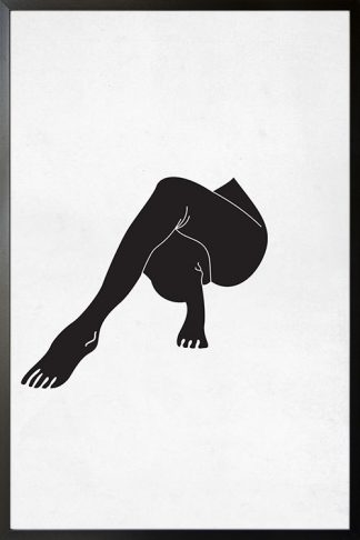 Yoga legs Poster
