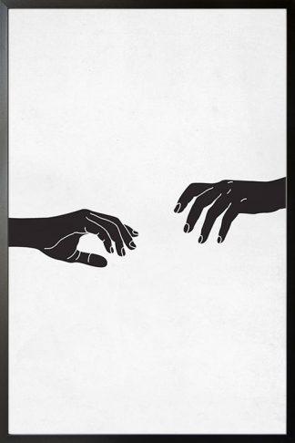 Black stencil hand poster