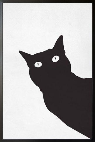 Black stencil cat poster