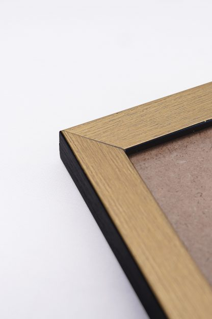 Gold frame close up